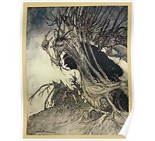 Comus Illustrated by Arthur Rackham 1921 0075 Roots and Branches Poster