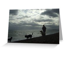 mad dog woman - hythe Greeting Card