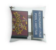 'Hoot'nHowl' Inn Sign Throw Pillow