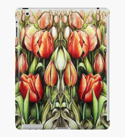 Mirrored Field of Tulips in Colour iPad Case/Skin