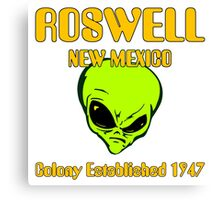 Roswell, New Mexico - Alien Colony Established 1947 Canvas Print