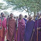 Maasai Welcome, Tanzania, Africa by Adrian Paul