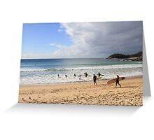 Manly Beach, Australia Greeting Card