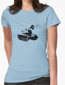 Make Music, Not War Womens Fitted T-Shirt