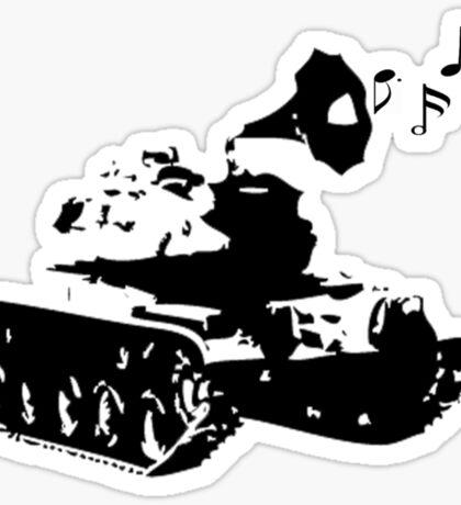 Make Music, Not War Sticker
