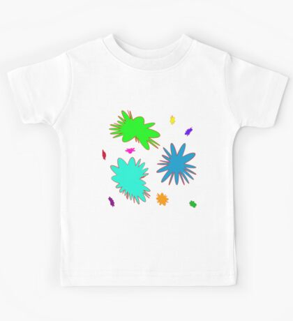 Colorful Rounded Stars, abstract Kids Tee