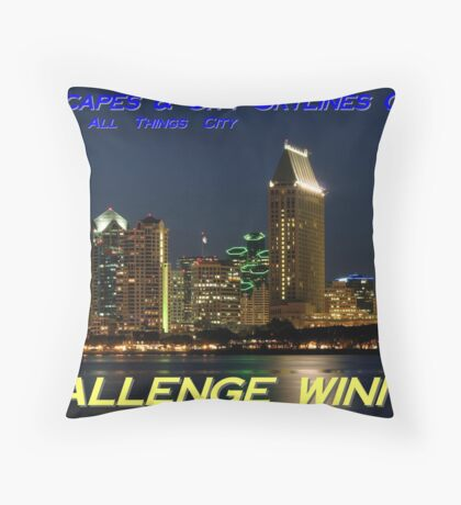 Winner Banner Throw Pillow