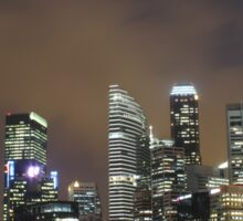 a sprawling Singapore landscape Sticker