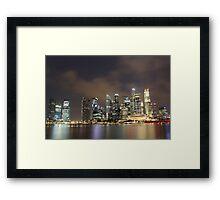 a sprawling Singapore landscape Framed Print