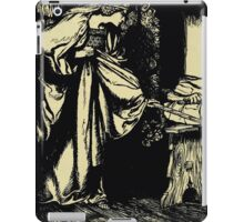 The romance of King Arthur and his knights of the Round Table art Arthur Rackham 1917 0084 Morgan Le Fey Steals Scabbard iPad Case/Skin
