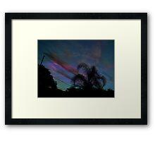 Palm Sun Down Framed Print