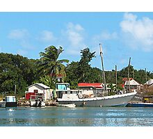 Docked Boats at Antigua Photographic Print