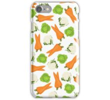 Trendy orange green white vegetable pattern  iPhone Case/Skin