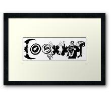 "Marvel & DC Comics: ""COEXIST"" Framed Print"