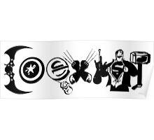"""Marvel & DC Comics: """"COEXIST"""" Poster"""