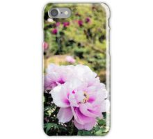 Pink flowers of Peony iPhone Case/Skin