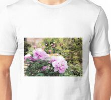 Pink flowers of Peony Unisex T-Shirt