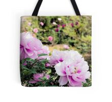 Pink flowers of Peony Tote Bag