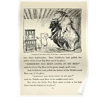 English Fairy Tales by Flora Annie Webster Steel art Arthur Rackham 1922 0045 Goldilocks Somebody Has Been Lying in My Bed Poster