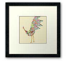 Peacock Dance 3 Framed Print