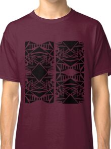 Geometric vector abstraction in red and black Classic T-Shirt