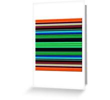 Strips Greeting Card