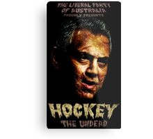 Hockey: The Undead! Metal Print