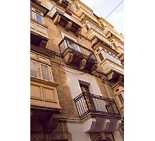 Maltese Balconies Photographic Print