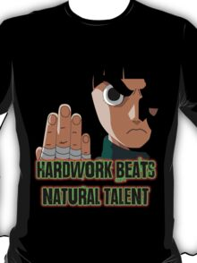 Rock Lee Black Tshirt  T-Shirt