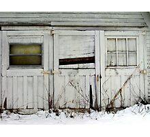 Broken Barn Doors Photographic Print