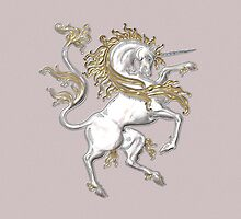 Silver and Gold Unicorn by LoneAngel