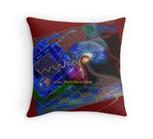 Postcard from Cyberspace Throw Pillow