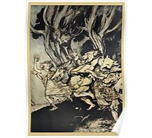 Comus Illustrated by Arthur Rackham 1921 0043 Beasts Poster