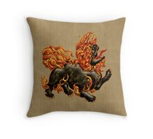 Chinese Dragon Dog Throw Pillow