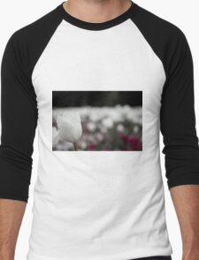 White Tulip Men's Baseball ¾ T-Shirt
