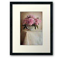 Still life with pink peonies Framed Print