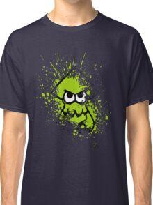 Splatoon Black Squid with Blank Eyes on Green Splatter Mask Classic T-Shirt