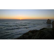 Sunset - Gibson Steps, Great Ocean Road, Victoria Photographic Print