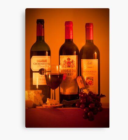 Fruit of the Vine and Stilton Cheese: mmmmmmm Canvas Print