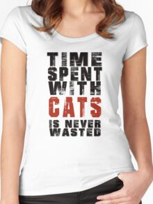 Time spent with cats is never wasted Women's Fitted Scoop T-Shirt