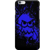 Splatoon Black Squid on Blue Splatter Mask iPhone Case/Skin