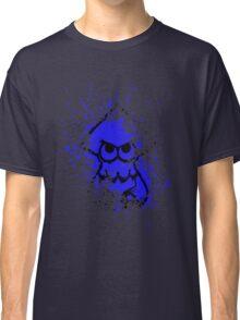 Splatoon Black Squid on Blue Splatter Mask Classic T-Shirt