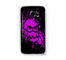 Splatoon Black Squid on Purple Splatter Mask Samsung Galaxy Case/Skin