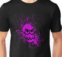 Splatoon Black Squid on Purple Splatter Mask Unisex T-Shirt
