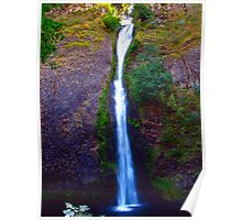 Horsetail Falls on the Historic Columbia River Hwy Poster