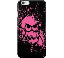Splatoon Black Squid on Pink Splatter Mask iPhone Case/Skin