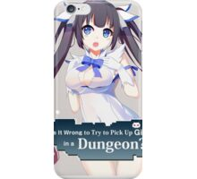 Hestia Danmachi 7 iPhone Case/Skin