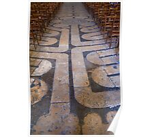 Chartres cathedral labyrinth Poster