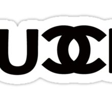 FU_K - chanel logo parody Sticker