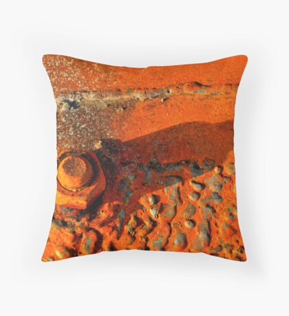 Rusty Weld Throw Pillow